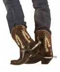 Eperons cowboy argent (x2)