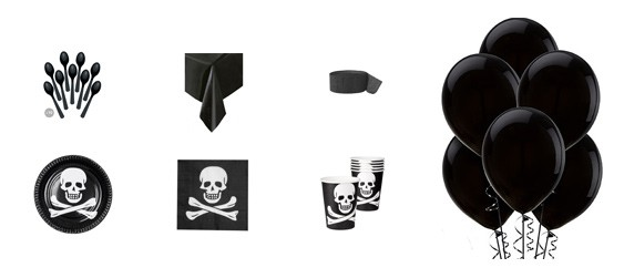 Kit anniversaire pirates (6 pers.)