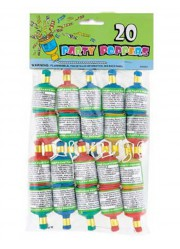 Serpentins party poppers (x20)