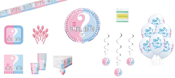 Kit décoration Baby shower Girl or boy (8 pers.)