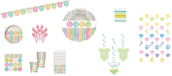 Kit décoration sweet baby shower (8 pers.)