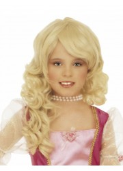 Perruque blonde princesse enfant