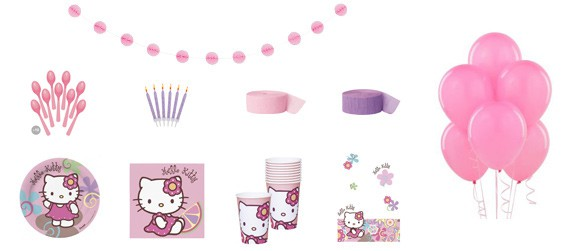 Kit anniversaire Hello Kitty bamboo luxe (10 pers.)