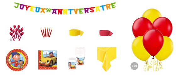 Kit anniversaire Oui-oui luxe (8 pers.)