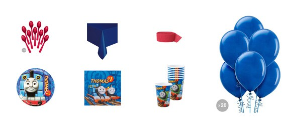 Kit anniversaire Thomas le petit train (8 pers.)