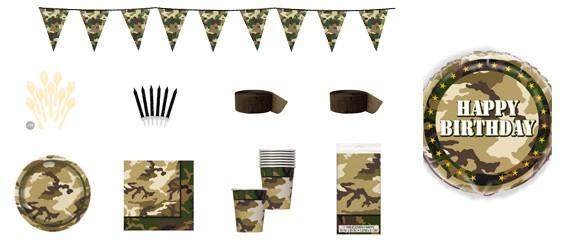 Kit anniversaire militaire (8 pers.)