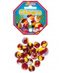 SACHET 20 BILLES VERRE + 1 CALOT CLOWN