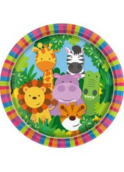 Assiettes animaux de la jungle (x8)