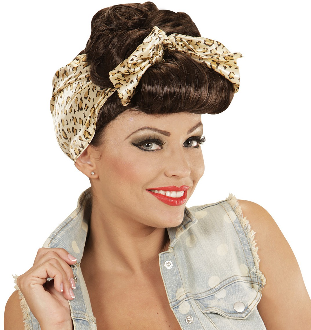 Perruque pin up rockabilly femme avec bandeau mister fiesta - Pin up annee 40 ...