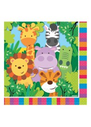 Serviettes animaux de la jungle (x20)