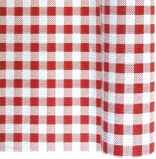 nappe en papier vichy carreaux rouge et blanc en rouleau 1 18 x 25 m mister fiesta. Black Bedroom Furniture Sets. Home Design Ideas