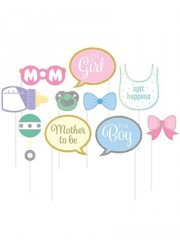 Accessoires Photobooth Baby Shower (x10)