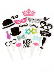 Accessoires Photobooth Wedding party (x20)