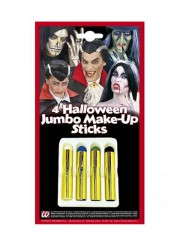 Kit maquillage Halloween (4 couleurs)