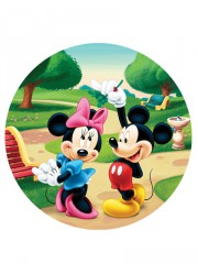 Disque en sucre Mickey & Minnie (20cm)