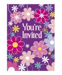 "Invitations Fleuries ""YOU'RE INVITED' (x8)"