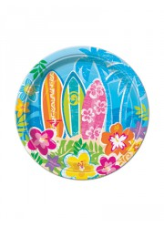 Petites assiettes Summer in Hawai (x10)