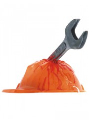 Casque de chantier hache adulte Halloween
