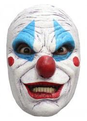 Demi-masque clown de l'horreur latex