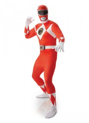 Déguisement Power Rangers rouge Adulte seconde peau