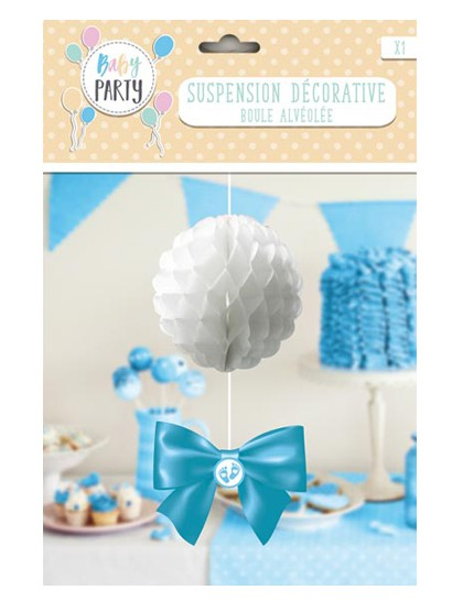 "Suspension boule Baby Shower fille ""petits pieds"""
