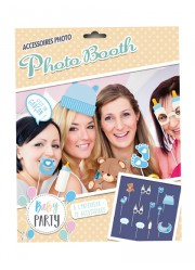 "Set Photobooth Baby Shower fille ""petits pieds"" (x12)"