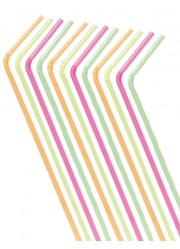 Pailles flexibles multicolores (x100)