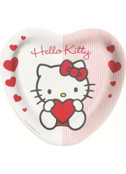Assiettes Hello Kitty coeur (x8)