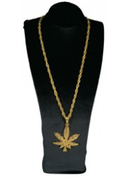 Collier feuille de cannabis