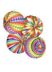 Lampions ballons multicolores (x12)