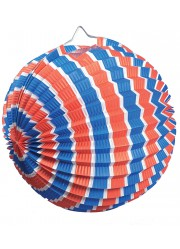 Lampions ballons tricolores (x12)