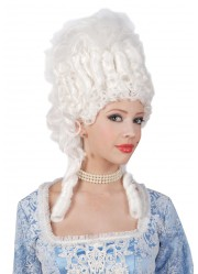 Perruque marquise marie antoinette blanche femme