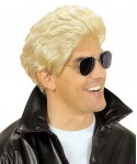 Perruque Greaser blonde homme