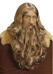 Perruque viking avec barbe homme