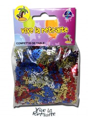 Confettis de table vive la retraite (14 g)