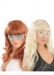 Lunettes disco grille adulte
