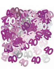 Confettis de table 40 ans roses (14 g)