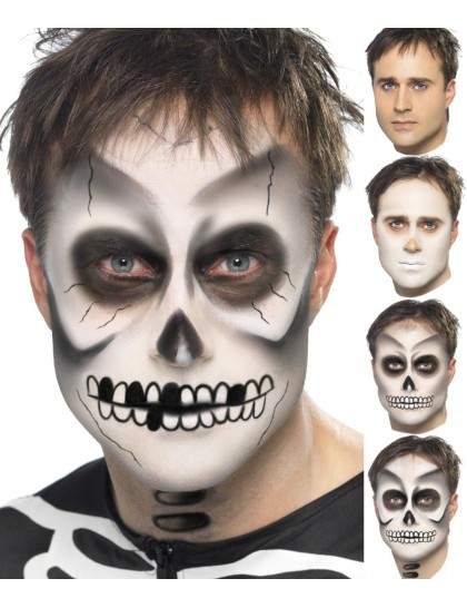 maquillage halloween homme barbe