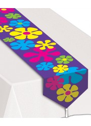 Chemin de table flower power hippie (1 80 m)