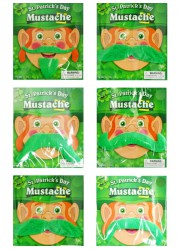 Moustaches st Patrick's day (x6)