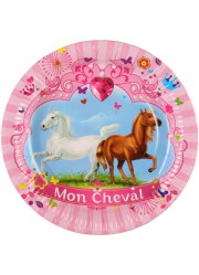 Assiettes cheval (x6)