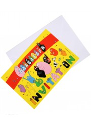 Invitations anniversaire Barbapapa (x6)