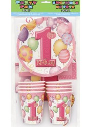 Kit anniversaire 1 an fille (8 pers.)