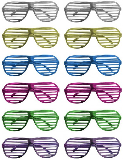 Lunettes disco grille adulte(x12)