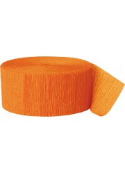Guirlande papier crepon orange (24 m)