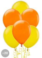Ballons orange et jaunes (x20)