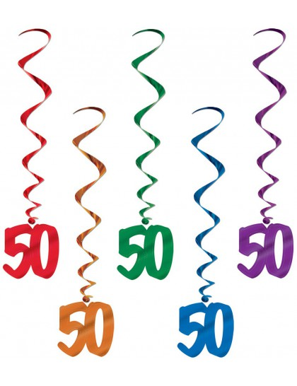 guirlandes anniversaire 50 ans multicolores x5 mister fiesta. Black Bedroom Furniture Sets. Home Design Ideas