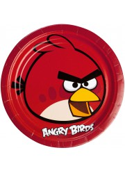 Assiettes Angry birds (x8)