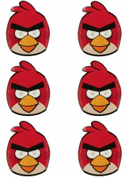 Masques Angry birds (x6)