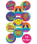 Badges hippie (x10)